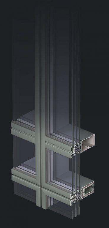 okno z trzema szybami